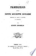 Panegirico del Conte Giuseppe Siccardi Ministro di grazia e giustizia in Piemonte di Giuseppe Mongibello