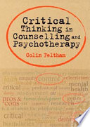 Critical Thinking in Counselling and Psychotherapy