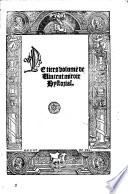 Le premier[-cinquiesme! volume de Vincent Miroir hystorial