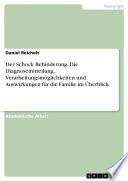 Der Schock Behinderung. Die Diagnosemitteilung, Verarbeitungsmöglichkeiten und Auswirkungen für die Familie im Überblick