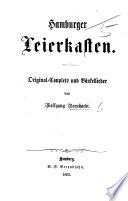 Hamburger Leierkasten. Original-Couplets und Bänkellieder