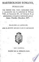 Martirologio Romano Vers. hisp. a A.D. Alvarez Pato
