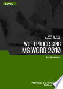 MS WORD 2010 (Level 1)