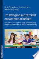 Im Religionsunterricht zusammenarbeiten
