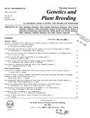 Indian Journal of Genetics   Plant Breeding