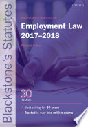 Blackstone s Statutes on Employment Law 2017 2018