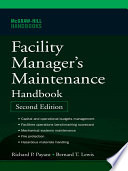Facility Manager S Maintenance Handbook