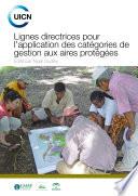 Lignes directrices pour l'application des catégories de gestion aux aires protégées