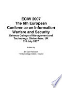 ECIW2008  7th European Conference on Information Warfare and Security