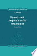 Hydrodynamic Propulsion And Its Optimization book