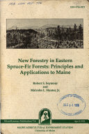 New Forestry in Eastern Spruce fir Forests Book PDF