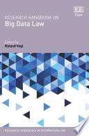 Research Handbook On Big Data Law