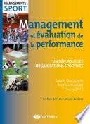 Management et   valuation de la performance