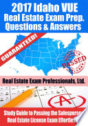2017 Idaho VUE Real Estate Exam Prep Questions  Answers   Explanations