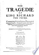 The Tragedie Of King Richard The Third : ...