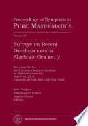 Surveys on Recent Developments in Algebraic Geometry