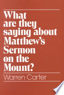 What are They Saying about Matthew s Sermon on the Mount