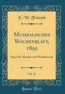 Musikalisches Wochenblatt, 1892, Vol. 23