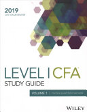 Wiley Study Guide For 2019 Level I Cfa Exam