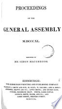 Proceedings  1840  reported by S  Macgregor