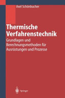 Thermische Verfahrenstechnik