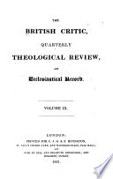 The British Critic  Quarterly Theological Review  and Ecclesiastical Record