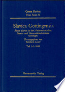 Slavica Gottingensia: 1-3242