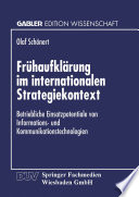 Frühaufklärung im internationalen Strategiekontext