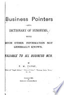 Business Pointers and Dictionary of Synonyms