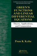 Green's Functions and Linear Differential Equations