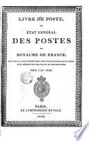 Livre de poste ou Etat general des postes du royamme de France