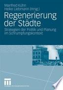 Regenerierung der Städte