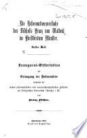 Die Reformationsversuche des Bischofs Franz von Waldeck im F  rstbistum M  nster