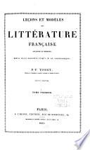 Leçons et modèles de littérature française ancienne et moderne