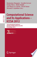 Computational Science and Its Applications    ICCSA 2012