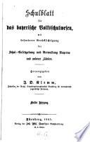 Schulblatt für das bayerische Volksschulwesen
