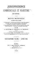 Book Jurisprudence commerciale & maritime de Nantes