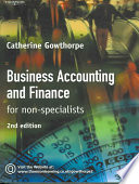 Business Accounting and Finance for Non specialists