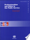 Professionalism and Ethics in the Public Service