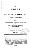 download ebook the works of alexander pope, esq. in verse and prose. with a selection of explanatory notes, and the account of his life by dr. johnson. in eight volumes. vol. 1. \\8.! pdf epub