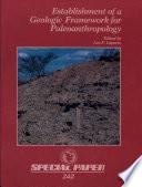Establishment of a Geologic Framework for Paleoanthropology