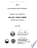 Peabody Coal Company s Big Sky Area B Mine  Rosebud County  Montana