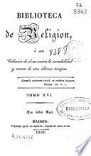 Biblioteca de religi  n   1828  415 p
