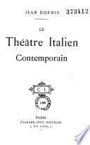 Le th    tre italien contemporain