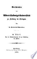 Geschichte der Stadt und Universität Freiburg im Breisgau
