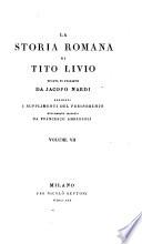 La Storia Romana di Tito Livio recata in Italiano da J  Nardi  aggiunti i Supplementi del Freinshemio nuovamente tradotti da F  Ambrosoli