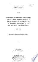 Naamlijst van de hoofden der departementen van Algemeen Bestuur, van de Ministers van Staat, en van de leden der Staten-Generaal van de Vereenigde Nederlanden en van het Koningrijk der Nederlanden, 1813-1851