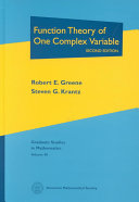 Function Theory Of One Complex Variable [Pdf/ePub] eBook
