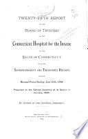Report of the Board of Trustees of the Connecticut Hospital for the Insane of the State of Connecticut