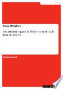 Die Arbeitslosigkeit in Polen vor und nach dem EU-Beitritt